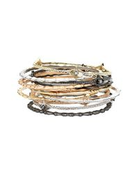Kendra Scott | Metallic 'mystic Bazaar - Chandler' Bangles - Mixed Metals (set Of 12) | Lyst
