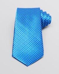 Valentino - Blue Square Dice Classic Tie for Men - Lyst