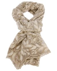 Faliero Sarti | Natural Embroidered Scarf | Lyst