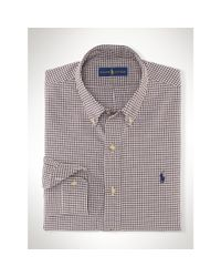 Polo Ralph Lauren | Brown Estate Gingham Twill Shirt for Men | Lyst