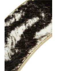 Isabel Marant - Black Sam Gold-Tone Calf Hair Cuff - Lyst
