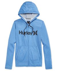 Hurley | Blue Lake Street Fleece Full-zip Hoodie for Men | Lyst