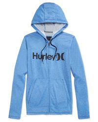 Hurley - Blue Lake Street Fleece Full-zip Hoodie for Men - Lyst