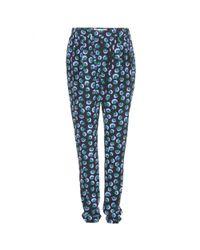Stella McCartney - Multicolor Blossom Print Elastic Silk Jogging Pants - Lyst