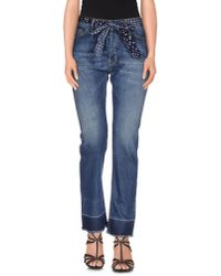 Erika Cavallini Semi Couture | Blue Denim Pants | Lyst