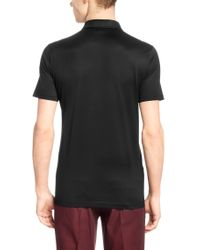 HUGO | Black 'desper' | Slim Fit, Mercerized Cotton Vegan-trim Polo for Men | Lyst