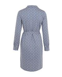 A.P.C. - Light Blue Miniprint Shirt Dress - Lyst