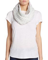 Saks Fifth Avenue - White Roving Yarn Infinity Scarf - Lyst