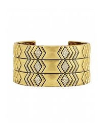 House of Harlow 1960 | Metallic Echo Crest Cuff | Lyst