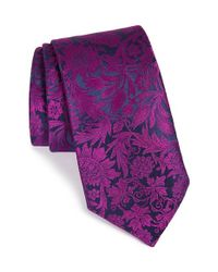 Ted Baker | Purple 'botanical Tapestry' Silk Tie for Men | Lyst