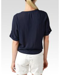 PAIGE - Blue Whitney Shirt - Navy Sky - Lyst