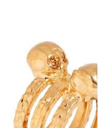 Alexander McQueen | Metallic Skull Embellish Triple Band Ring | Lyst