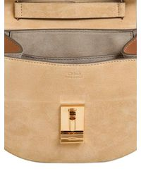 Chloé - Brown Drew Mini Smooth Leather And Suede Bag - Lyst