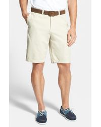 Tommy Bahama | Natural 'del Chino' Flat Front Pima Cotton Shorts for Men | Lyst