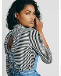 Free People - Blue Clara Chambray One Piece - Lyst