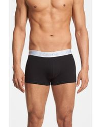 Calvin Klein | Black 'superior' Cotton Blend Trunks for Men | Lyst