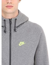 Nike | Gray Cotton Tracksuit With Logo Detail for Men | Lyst