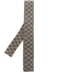Drumohr - Natural Checked Woven Tie for Men - Lyst