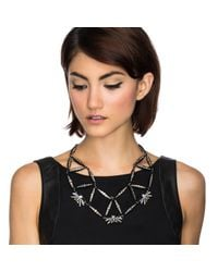 Lulu Frost - Black Larkspur Crystal Web Necklace - Lyst