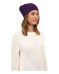 UGG | Multicolor Isla Lurex Beanie W/ Fur Pom | Lyst