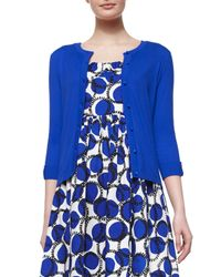 kate spade new york - Blue Somerset Button-front Cardigan - Lyst