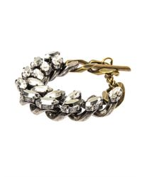 Lanvin - Metallic Susan Crystal And Chain Bracelet - Lyst