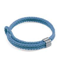 Bottega Veneta - Blue Men's Woven Leather Bracelet - Lyst