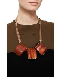 Marni | Red Three Stone Resin Necklace | Lyst