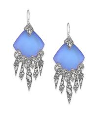 Alexis Bittar | Blue Lucite Glacial Crystal Chandelier Earrings | Lyst