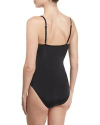 Letarte | Gray Ruched One-piece Swimsuit | Lyst