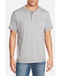 Tommy Bahama | Gray 'cohen Moulinex' Original Fit Henley for Men | Lyst