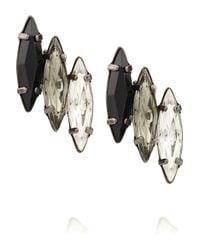 Elizabeth Cole - Black Hematite-Plated Swarovski Crystal Earrings - Lyst
