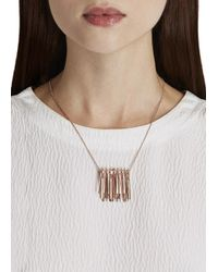 Eddie Borgo | Pink Rose Gold Plated Fringe Necklace | Lyst