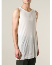Haider Ackermann | White Long Semi Sheer Tank Top for Men | Lyst