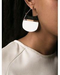 Tory Burch - White Color Block Drop Earrings - Lyst