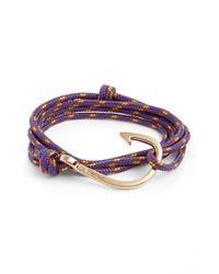 Miansai - Purple Gold Hook Rope Bracelet for Men - Lyst