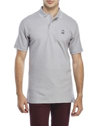 Psycho Bunny | Gray Classic Embroidered Polo for Men | Lyst