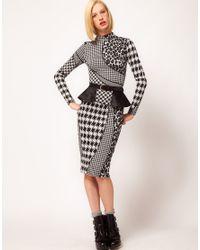 ASOS   Black Leather Peplum Skirt Waist Belt   Lyst