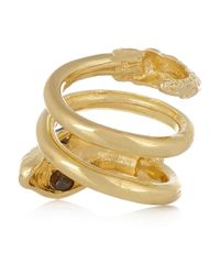 Jennifer Fisher - Metallic Twisted Snake Gold-Plated Cubic Zirconia Ring - Lyst