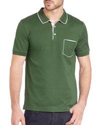 Ferragamo - Green Pocket Polo for Men - Lyst