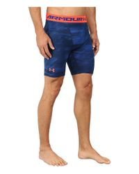 Under Armour | Blue Armour® Heatgear® Printed Compression Short for Men | Lyst