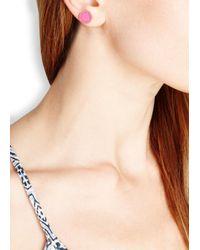 Marc By Marc Jacobs - Logo Disc-o Pink Enamel Stud Earrings - Lyst