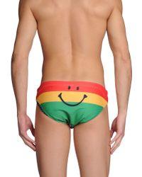 Moschino - Red Bikini Bottoms for Men - Lyst