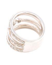 Hoorsenbuhs | White 'aset' 3 Stacked Ring | Lyst