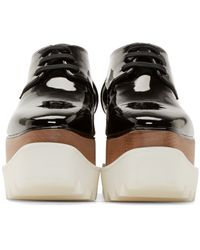 Stella McCartney - Black Patent Double-platform Shoes - Lyst