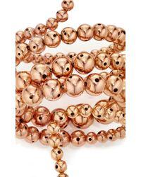 Paula Mendoza | Pink Rose Gold Double Nereus Bubble Bracelet | Lyst