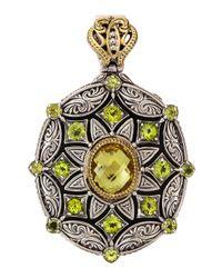 Konstantino | Multicolor Lemon Topaz Peridot Star Pendant | Lyst