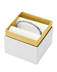 Michael Kors - Metallic Hinge Bangle In Gift Box - Lyst