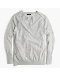 J.Crew | Gray Relaxed Merino Wool Pullover Sweater | Lyst
