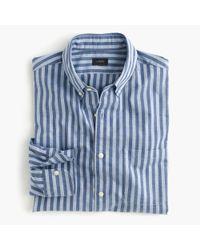 J.Crew - Blue Slim Secret Wash Shirt In Bold Stripe for Men - Lyst
